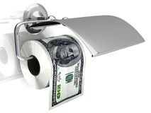 Expensive toilet paper Royalty Free Stock Images