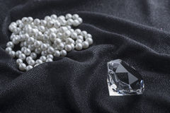 Diamond and Necklace Royalty Free Stock Image