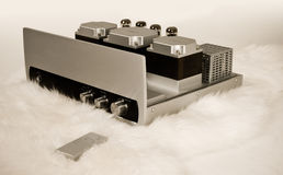 Expensive tube amplifier Royalty Free Stock Photography