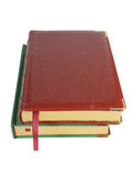 Expensive two leather notebooks Royalty Free Stock Image