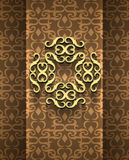 Expensive Victorian pattern in retro vintage style. Vector illustration Royalty Free Stock Photography