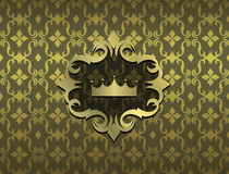 Expensive Victorian pattern in retro vintage style. Vector illustration Stock Images