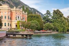 Expensive villa on Lake Garda Royalty Free Stock Image