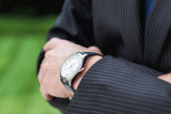 Expensive watch closeup Royalty Free Stock Photo