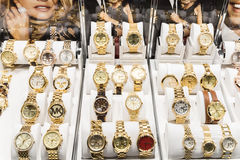 Expensive Watches For Sale In Luxury Shop Royalty Free Stock Images
