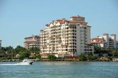 Expensive waterfront apartments in Miami Beach Stock Photo
