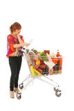 Expensive weekly groceries Stock Photos