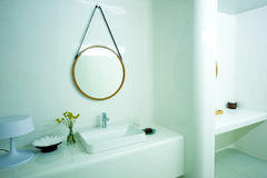 Expensive white bathroom Stock Photography