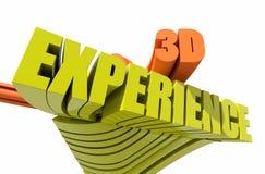 experiência 3d Fotografia de Stock Royalty Free