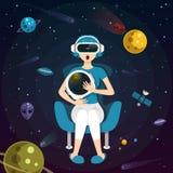 Experiência da realidade virtual Foto de Stock Royalty Free