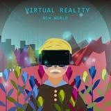 Experiência da realidade virtual Fotografia de Stock Royalty Free