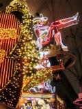 Experiência da rua de Fremont em Las Vegas, Nevada na noite fotos de stock royalty free