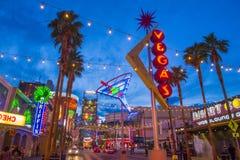 Experiência da rua de Las Vegas, Fremont Imagens de Stock