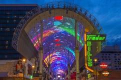 Experiência da rua de Las Vegas, Fremont Foto de Stock Royalty Free