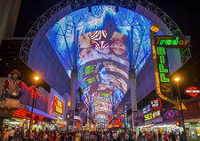 Experiência da rua de Las Vegas, Fremont Foto de Stock