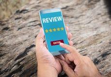 Experiência do cliente e conceito da revisão foto de stock royalty free