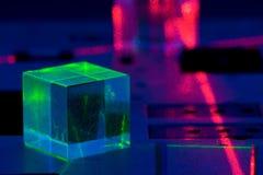 Experiência do laser imagem de stock royalty free