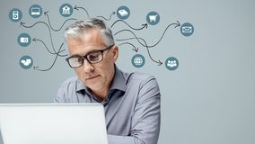 Experiência e tecnologia do usuário imagem de stock royalty free