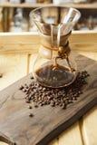 Experiência gourmet do café e do barista foto de stock