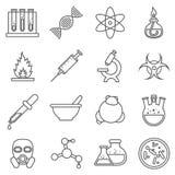 Experiências, química e bio científicos ilustração do vetor