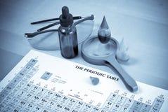 Experiências químicas foto de stock