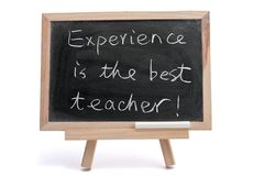 Experience is the best teacher Royalty Free Stock Images