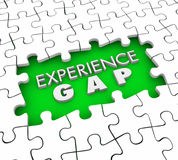 Experience Gap Puzzle Pieces Hole Lacking Qualifications 3d Illu. Stration Stock Image