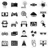Experience icons set, simple style Stock Images