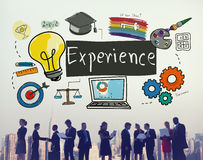 Experience Learning Exposure Drawing Icon Concept Stock Photo