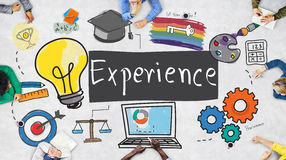 Experience Learning Exposure Drawing Icon Concept Royalty Free Stock Photo