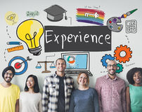 Experience Learning Exposure Drawing Icon Concept Royalty Free Stock Photos