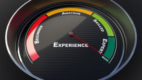 Experience level indicator Royalty Free Stock Images