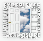 Experience New Horizons Door Opens Leading to Opportunity Stock Photography