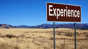 Experience road sign Stock Photo