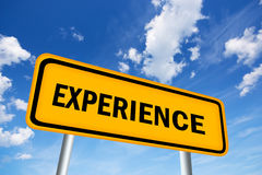 Experience sign Royalty Free Stock Photography