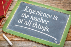 Experience is the teacher of all things Royalty Free Stock Photo