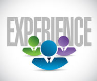 Experience team sign illustration design graphic Royalty Free Stock Photo