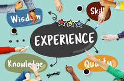 Experience Wisdom Skill Knowledge Quality Learn Concept Stock Image
