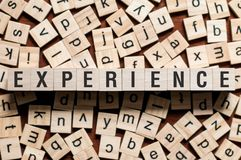 Experience word concept stock image