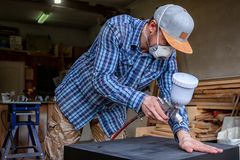 Experienced carpenter royalty free stock images