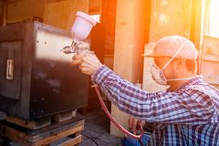 Experienced carpenter royalty free stock photography