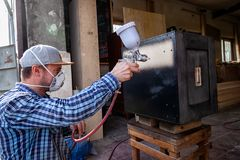 Experienced carpenter stock photo