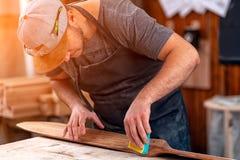 Experienced carpenter stock photos