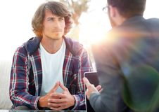 Experienced counseling counseling client. stock photography