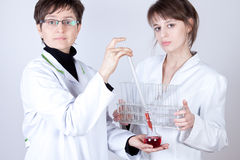 Experienced Doctor experimenting Royalty Free Stock Photography