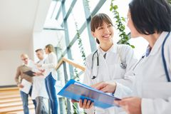 Experienced doctors in teamwork. Experienced doctors work together in teamwork royalty free stock photography