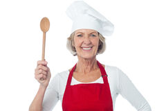 Experienced female chef posing Royalty Free Stock Images