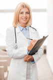 Experienced female doctor. Royalty Free Stock Photography