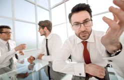 Experienced lawyer in the background of his office. Business concept stock images