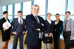 Experienced leader Royalty Free Stock Images